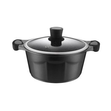 Black Die-Cast Aluminium Kitchen Cookware Pots