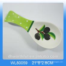 Kreative Oliven-Figur Keramik Löffel Inhaber