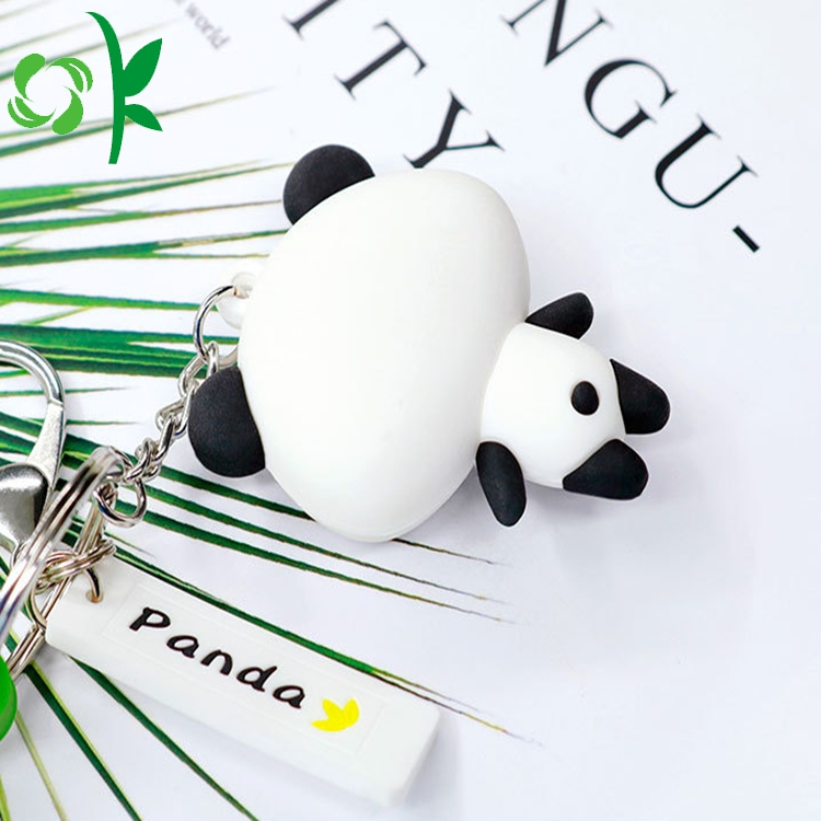 black and white key chain