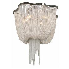 European style hall big luxury chrome iron chain aluminum modern light fixture chandelier