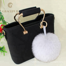 Complete production line purse fur ball real keychain