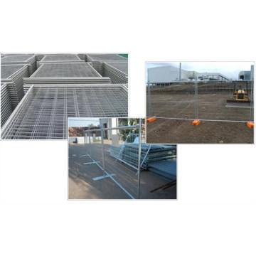 La clôture temporaire de revêtement de zinc élevé
