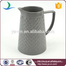 YSj0008-02 jarro de chá de convexidade de grés estilo moderno