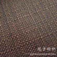Tela de sofá de lino imitado con forro compuesto