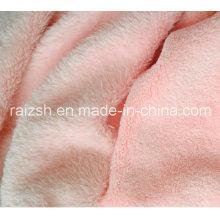 100% Polyeser de color sólido Tejido de microfibra de felpa de coral de felpa