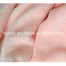 100% Polyeser Solid Color Knitted Microfiber Plush Coral Fleece