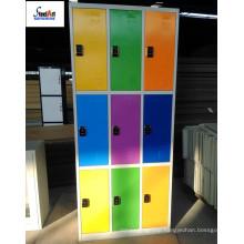 Colored color smart locks gym metal storage locker cabinet