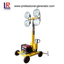 Tour d'éclairage mobile, Tour de lumière montée sur remorque, Tour de lumière télescopique