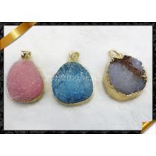 Druzy colgante, una mayor calidad joyas colgantes (yad003)