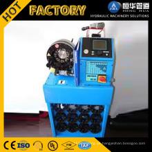 Werkstatt-Preis PLC steuern volle automatische hydraulische Schlauch-Kräuselungs-Maschine mit großem Rabatt