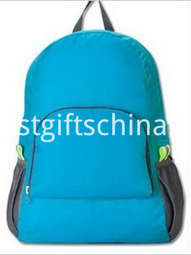 Promotional Polyester Backpacks W Your Logo - Blue