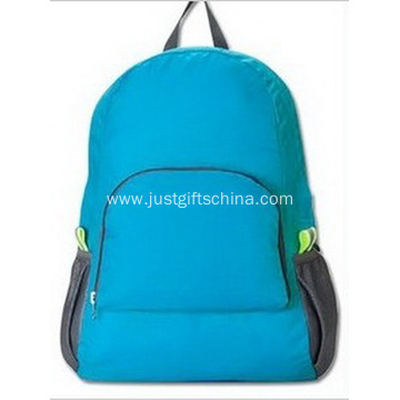 Promotional Polyester Backpacks W/ Your Logo - Blue