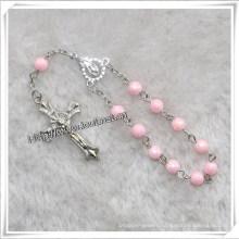 Religious Pink Beads Decade Rosary (IO-CE077)