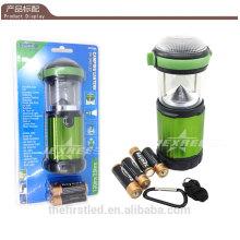 Lanterna de acampamento portátil LED 500 Lumen alumínio LED 4X 1.5V AA Camping Light