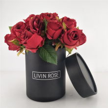 Wedding Flower Packaging Black Cylinder Paper Box