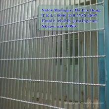 Clôture de sécurité galvanisée, clôture en métal galvanisé, clôture galvanisée