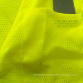 Mesh reflective safety yellow vest with pockets
