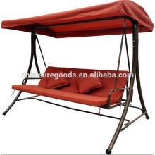 Cadeira de balanço de aço grande para exterior com almofada