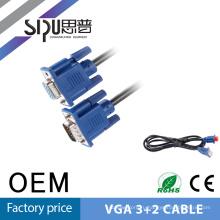 SIPU высокого качества черного ПВХ jacet мужчины к мужчине HD 15 контактный 6 футов vga кабель компьютера