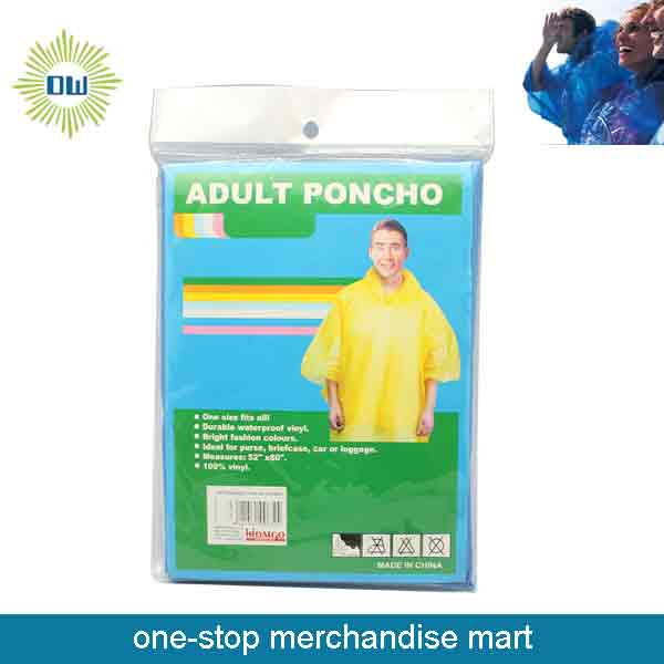 Dollar Items of Disposable Rain Poncho