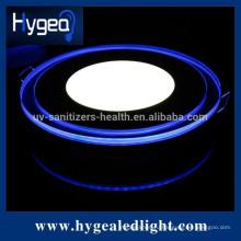 10W теплый белый круглый свет панели с изменением цвета