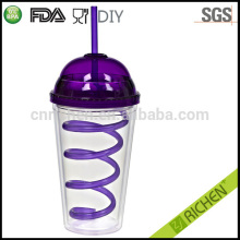 China food grade insulated tumbler with straw and lid
