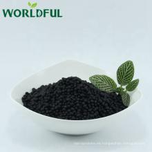 Suministre el fertilizante revestido granular orgánico del argo, bolas brillantes del ácido húmero NPK 13-1-2
