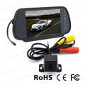 Système de moniteur de caméra de surveillance de miroir avec caméra de voiture