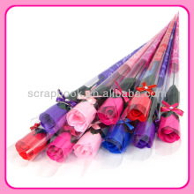 flor decorativa rosa sabonete/sabão