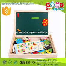 Easy portable education blackboard wooden magnetic white board for children