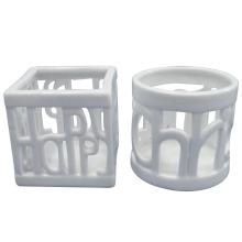 Blanco ahueca porcelana artesanía vela titular