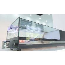 Armário de exposição comercial do refrigerador da vitrine pequena do sushi 5pan