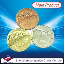 Concessionnaires de métaux commémoratifs sur mesure Monnaies en or Silve Copper Color, médaille d'or souvenir Médaille de médaillon Fashion Champion Badge Coins