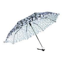 Paraguas de satén Duomatic plegables de impresión ondulada de agua (YS-3FD22083903R)