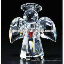 Nuevo diseño - Figurillas de ángulo votivas de cristal hechas a mano para los cristianos Favors 2015