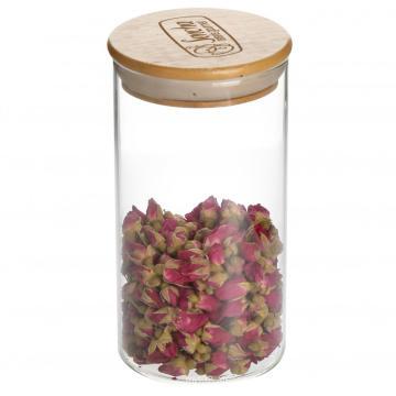 Wooden Lids Airtight Glass Storage Jars