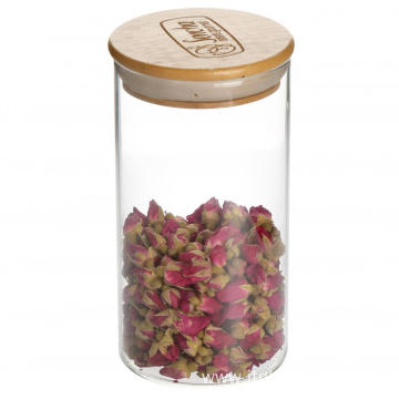 Wooden Lids Airtight Glass Storage Jars