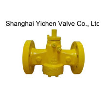 Inverted Flanged Lubricated Plug Valve (DX41)