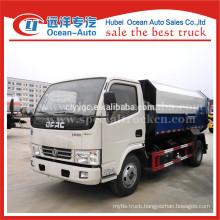 DFAC euro 4 standard 5 m3 self loading garbage truck for sales