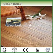 Comprimento aleatório UV óleo olmo sólido piso de madeira