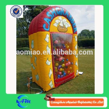 Inflatable money booth cash cube money machine for sale