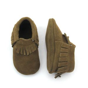 Suede Leather Baby Moccasins Shoes Wholesales