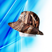 100% Polyester Man's Sublimation Druck Bucket Cap