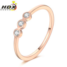 Fashion Accessories Stainless Steel Jewelry Ring Diamond Rose Gold Ring (jdx1136)