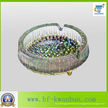 Cenicero de cristal de color redondo con buen precio Kb-Jh06181