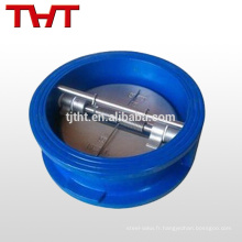 Clapet anti-retour à double plaque de type wafer / valve à ressort anti-retour