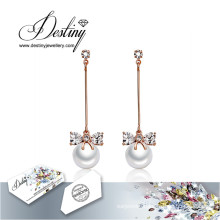 Destiny Jewellery Crystals From Swarovski Earrings Long Pearl Earrings