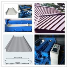 Haga clic en el bloqueo de cerradura portátil de metal de costura de techos Roll Former para la venta