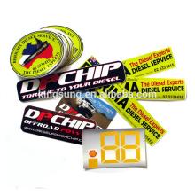 Imprimer die cut pare-chocs vinyle autocollants personnalisés