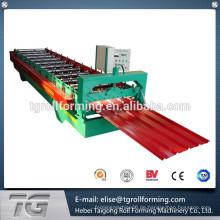 Kontinuierliche Entwicklung farbige verglaste Fliesen Dachplatte Walze Formmaschine zum Verkauf